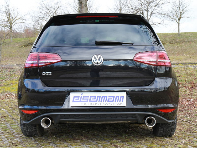 eisenmann volkswagen golf 7 gti performance exhaust 2 x. Black Bedroom Furniture Sets. Home Design Ideas