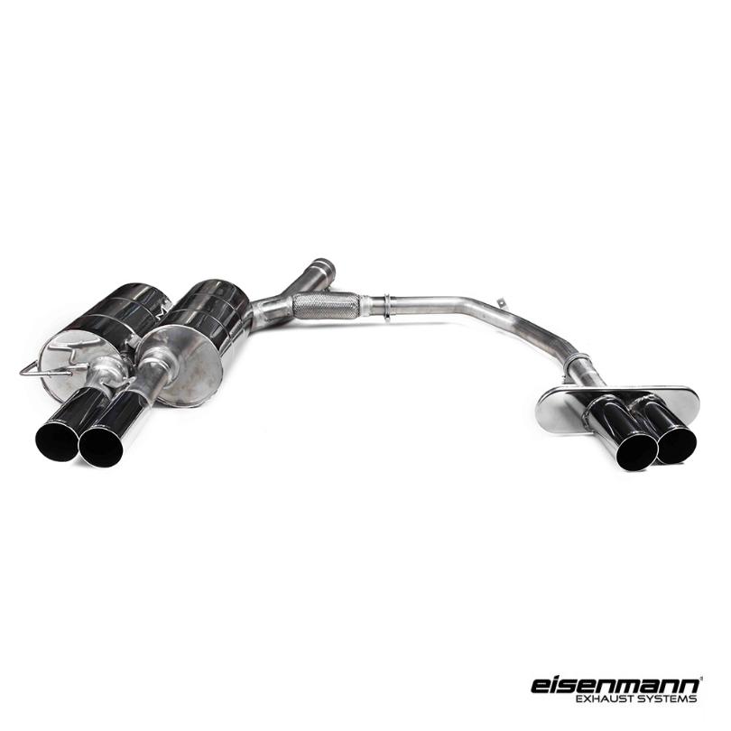 eisenmann bmw e60 550i performance exhaust 4 x 76mm